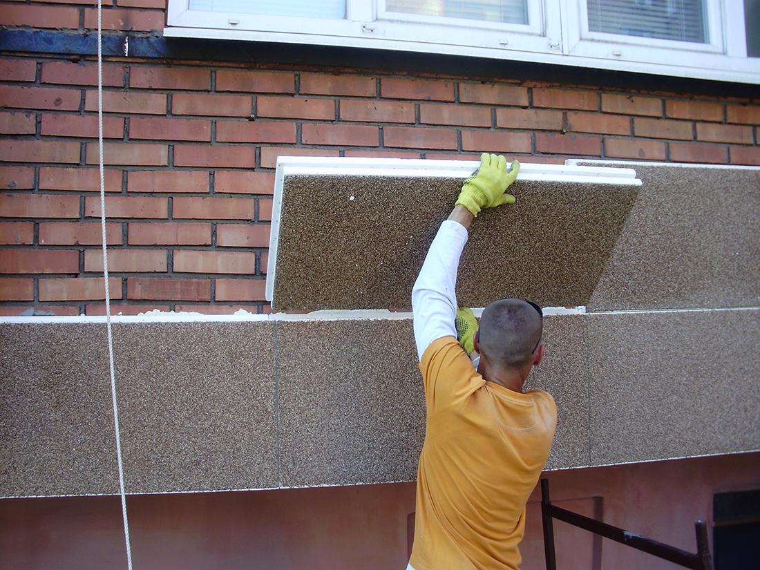 Стоимость работ на утепление фасадов домов
